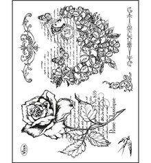 Viva Decor Flower Heart & Rose Clear Stamp Set (4003 097 00)