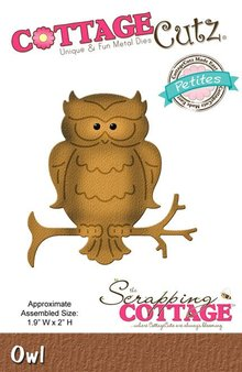 Scrapping Cottage CottageCutz Owl (Petites) (CCP-021)