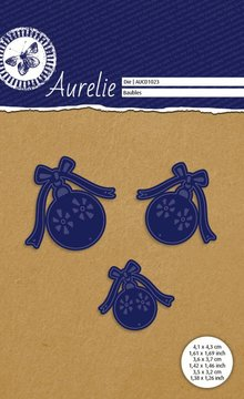 Aurelie Kerstballen Snij- & Embossingsmal (AUCD1023)