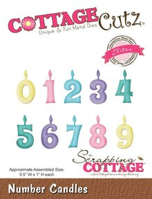 Scrapping Cottage CottageCutz Number Candles (Elites) (CCE-161)
