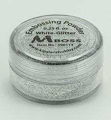 Mboss Embossing Powder White Glitter (390113)