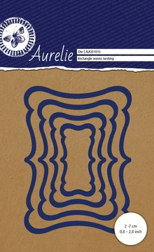 Aurelie Rectangle Waves Nesting Snij- & Embossingsmal (AUCD1015)