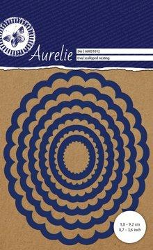 Aurelie Oval Scalloped Nesting Snij- & Embossingsmal (AUCD1012)