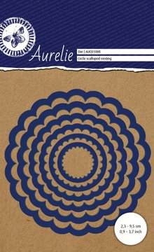 Aurelie Circle Scalloped Nesting Snij- & Embossingsmal (AUCD1008)
