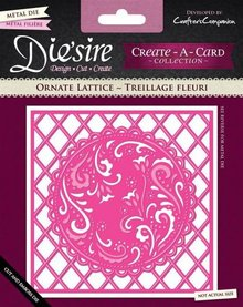 Die'sire Ornate Lattice Create-A-Card Die (DS-CAD-ORNLAT)