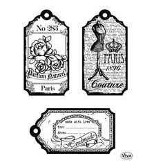 Viva Decor Tags Paris Clear Stamp Set (4003 122 00)