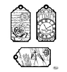 Viva Decor Tags Time Clear Stamp Set (4003 123 00)