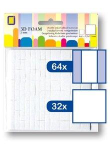 JEJE Produkt 3D Foam Rectangles 12x12 mm & 12x6 mm x 2 mm (3.3132)