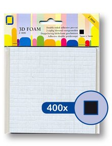 JEJE Produkt 3D Foam Black 5 mm x 5 mm x 2 mm (3.3142)