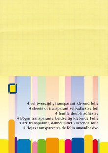 JEJE Produkt Self-adhesive Foil Transparent A4 4 Sheets (3.5005)