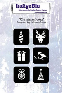 IndigoBlu Christmas Icons A6 Rubber Stamp (IND0197)