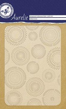 Aurelie Dotted Circles Background Embossing Folder (AUEF1003)