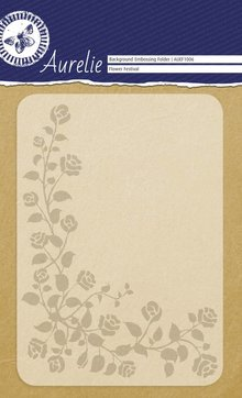 Aurelie Flower Festival Background Embossing Folder (AUEF1006)