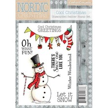 Crafter's Companion Nordic Christmas Cool Christmas Unmounted Rubber Stamp Set (NC-ST-COOL)