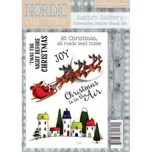 Crafter's Companion Nordic Christmas Santa's Delivery Unmounted Rubber Stamp Set (NC-ST-DEL)