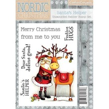 Crafter's Companion Nordic Christmas Santa's Helper Unmounted Rubber Stamp Set (NC-ST-SHEL)
