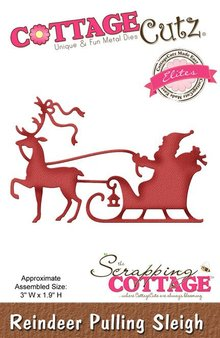 Scrapping Cottage CottageCutz Reindeer Pulling Sleigh (Elites) (CCE-312)