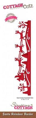 Scrapping Cottage CottageCutz Santa Reindeer Border (Elites) (CCE-313)