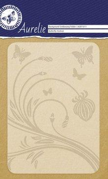 Aurelie Butterfly Festival Background Embossing Folder (AUEF1011)