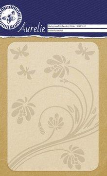 Aurelie Butterfly Habitat Background Embossing Folder (AUEF1012)