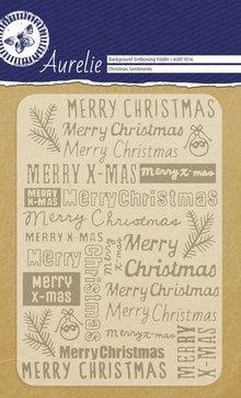 Aurelie Christmas Sentiments Background Embossing Folder (AUEF1016)