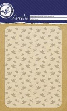 Aurelie Flock Of Birds Background Embossing Folder (AUEF1018)