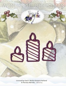 Precious Marieke Wonderful Christmas Candles Die (PM10014)