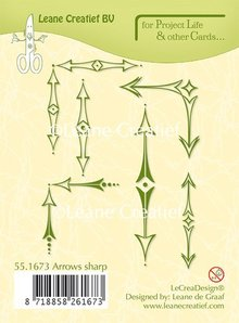 Leane Creatief Project Life & Cards Arrows Sharp Clear Stamps (55.1673)