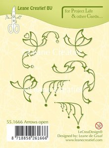 Leane Creatief Project Life & Cards Arrows Open Clear Stamps (55.1666)