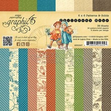Graphic 45 Children's Hour 6x6 Inch Patters & Solids (4501247)