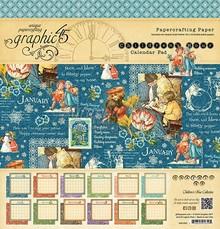 Graphic 45 Children's Hour Calendar Pad 12x12 Inch Paper Pad (4501251)