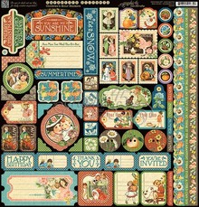 Graphic 45 Children's Hour Stickers (4501257)