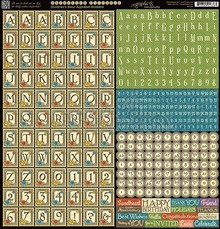 Graphic 45 Children's Hour Alphabet Stickers (4501258)