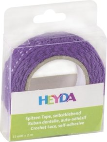Heyda Self-Adhesive Crochet Lace Violet (203584566)