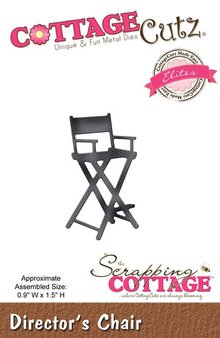 Scrapping Cottage CottageCutz Director's Chair (Elites) (CCE-381)