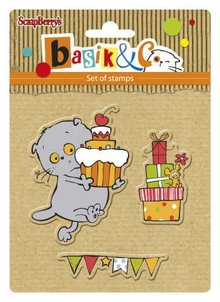 ScrapBerry's Set Of Clear Rubber Stamps 10,5x10,5 cm Basic's New Adventure 2 (SCB4907036)