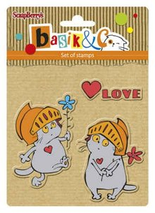 ScrapBerry's Set Of Clear Rubber Stamps 10,5x10,5 cm Basic's New Adventure 3 (SCB4907037)