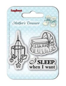 ScrapBerry's Mother's Treasure Sleep When I Want 7x7 cm Clear Stamps (SCB4907026)