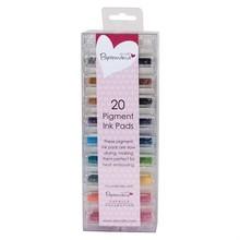 Papermania 20 Mini Pigment Ink Stamp Pads (PMA 5521100)
