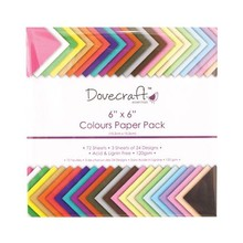 Dovecraft Essentials Colours 8x8 Inch Paper Pack (DCDP60)