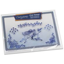 Claritystamp Santa & Stars Clear Stamps & Mask (STA-CH-10075-A5)