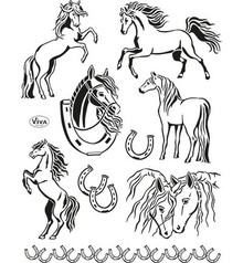 Viva Decor Horses Clear Stamp Set (4003 139 00)