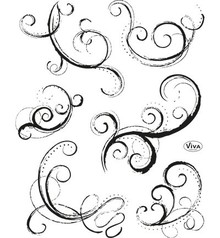 Viva Decor Curlicue II Clear Stamp Set (4003 149 00)