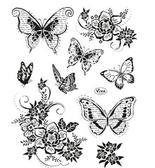 Viva Decor Butterflies II Clear Stamp Set (4003 151 00)