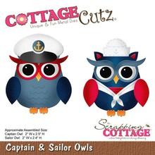 Scrapping Cottage CottageCutz Captain & Sailor Owls (CC-109)