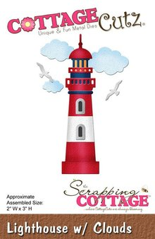 Scrapping Cottage CottageCutz Lighthouse with Clouds (CC-113)