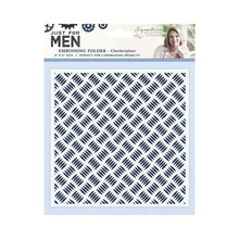 Crafter's Companion Just For Men Checkerplate 6x6 Inch Embossing Folder (S-MEN-EF6-CHEC)