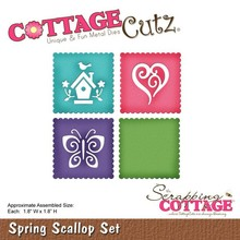 Scrapping Cottage CottageCutz Spring Scallop Set (CC-145)