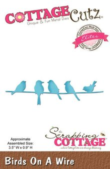 Scrapping Cottage CottageCutz Birds On A Wire (CCE-409)