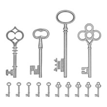 Idea-ology Silver Metal Keys (TH93321)